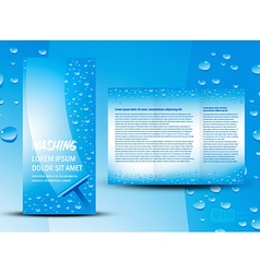 brochure folder washing design cmyk no transparen vector image vector image