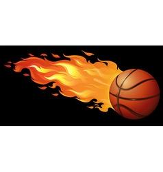 Fire basketball vector image