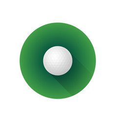 flat color golf ball vector image