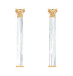greek doodle doric ionic corinthian columns vector image vector image