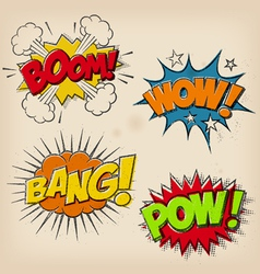 Grunge Cartoon Sound Effects Set 1 vector image vector image