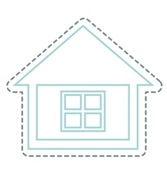 house real estate icon vector image