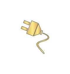 plugs computer symbol vector image vector image