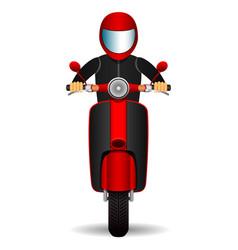 scooter biker front view vector image