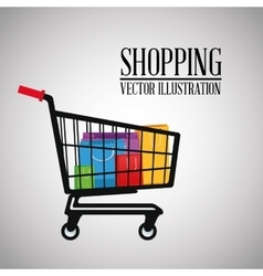 Shopping design commerce icon Colorful design vector image