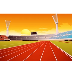 Sports stadium vector image
