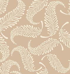 White feathers pattern vector image vector image