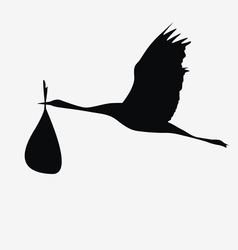 crane with a bag vector image vector image