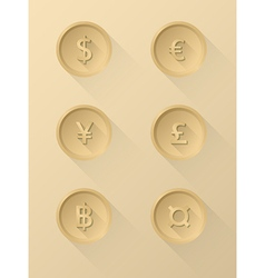 Currency symbol icons vector image
