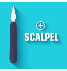 Flat scalpel background concept vector