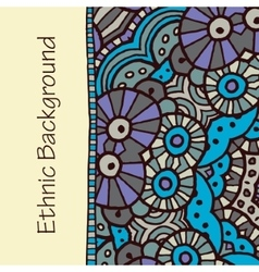 hand draw ethnic background vector image