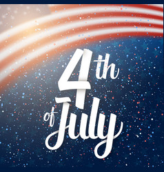 independence day poster 4th of july usa vector image