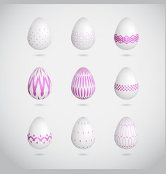 pink easter eggs vector image