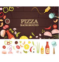 pizza cartoon style concept vector image