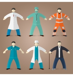 Professions set of medical doctors vector image