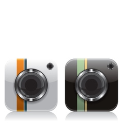 Retro camera icons vector image