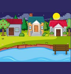 a rural house village vector image