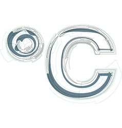 Abstract celcius sign vector