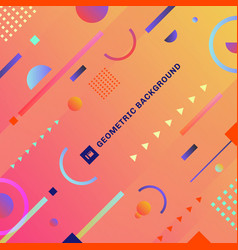 abstract trendy colorful geometric composition vector image