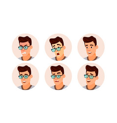 avatar man human emotions stylish image vector image