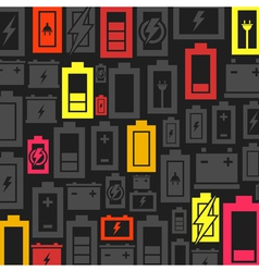 Battery a background vector image