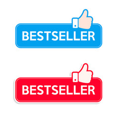 Bestseller icon set recommended thumbs up icon vector