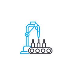 beverage production linear icon concept beverage vector image