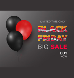 black friday festive offer big sale balloons vector image