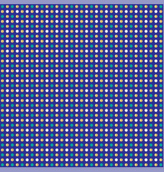 Blue gold glitter polka dot pattern vector