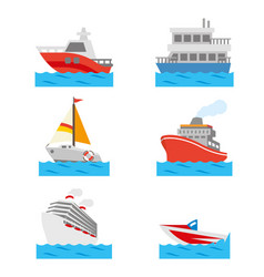 boat ship vehicle transportation travel vector image