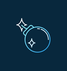 bomb concept colored icon in thin line vector image