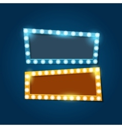 bright retro banners with light effects vector image
