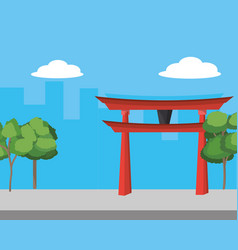 chinatown and city vector image