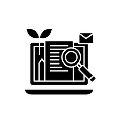content marketing black icon sign on vector image