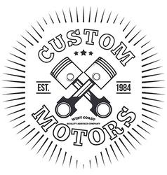 Custom motors T-shirt graphics vector
