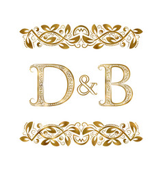 D and b vintage initials logo symbol the letters vector