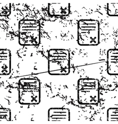 Declined document pattern grunge monochrome vector