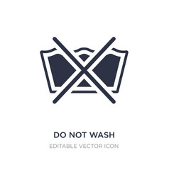 Do not wash icon on white background simple vector