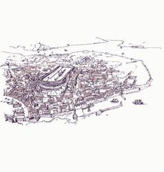 Drawing sketch constantinople vector