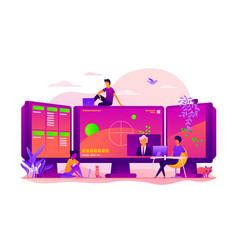 E-sport game streaming concept vector