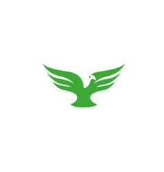 eagle open wings fly logo design icon vector image