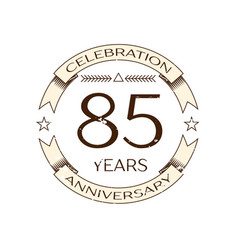 eighty five years anniversary celebration logo vector image