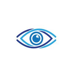eye care logo design vector image