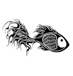 Fish tattoo vector