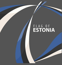 Flag of estonia against a dark background vector