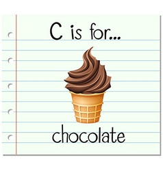 Flashcard letter C is for chocolate vector