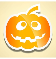 Flat cute pumpkin with shadow vector image
