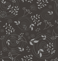 Floral branch seamless pattern vector image