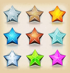 Funny stars icons for game ui vector