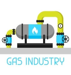 Gas heat exchanger in refinery Industrial vector image